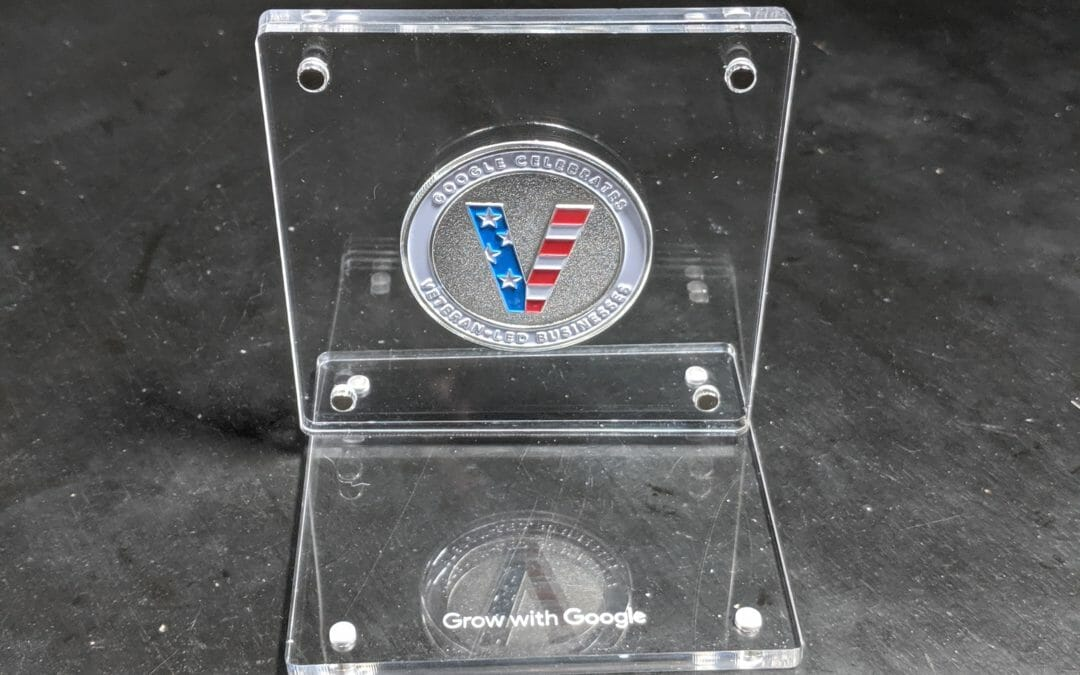 Google Challenge Coin – Google Recognizes Veteran Owned Businesses